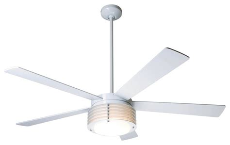 contemporary white ceiling fan with light 52 quot modern fan pharos gloss white with light ceiling fan