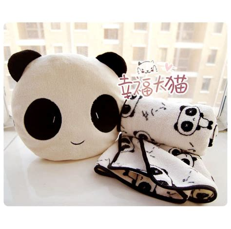 Boneka Pillow free shipping sale birthday gift quality panda pillow warm blanket plush cushion