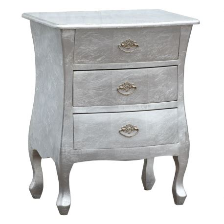high gloss luxury luxus bedside table with silver leaf high gloss high gloss silver bombe bedside chest