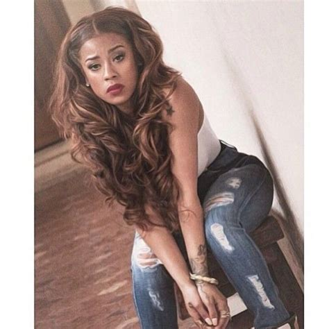 frankie cole blond her styles keyshia cole celebrity brown blonde highlights curly wavy