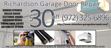 richardson garage door repair richardson tx garage door repair replace broken