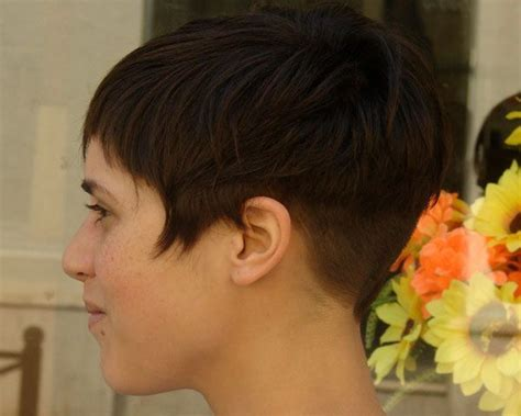 short bob at barber short bob haircut shortest length pinterest