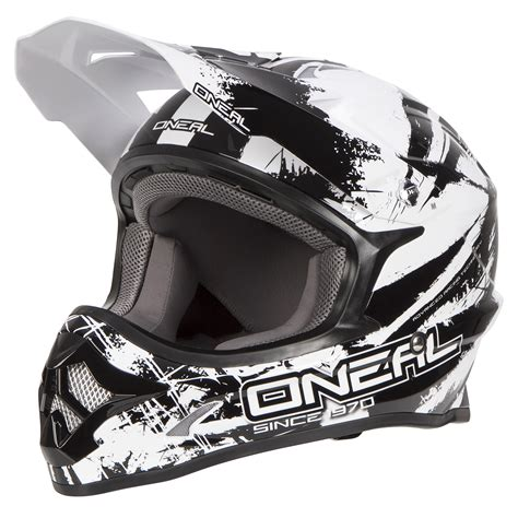 Helm Oneal 3 Series Size Xl Dan 100 Accuri o neal helmet 3series shocker black white 2018 maciag offroad