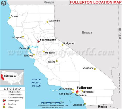 california map fullerton where is fullerton located in california usa