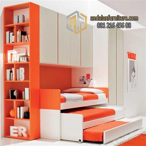 Sofa Plus Tempat Tidur tempat tidur sorong tiga 3 lemari rak buku minimalis furniture jepara klasik perabot mebel