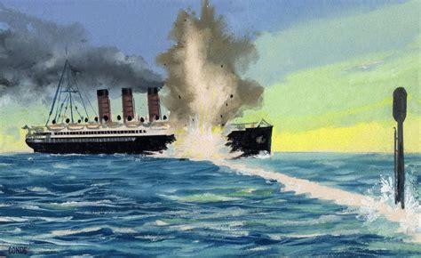 ww1 sinking of the lusitania sinking lusitania ww1 war art pinterest titanic