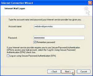 Of the gmail account being configured in outlook express email client