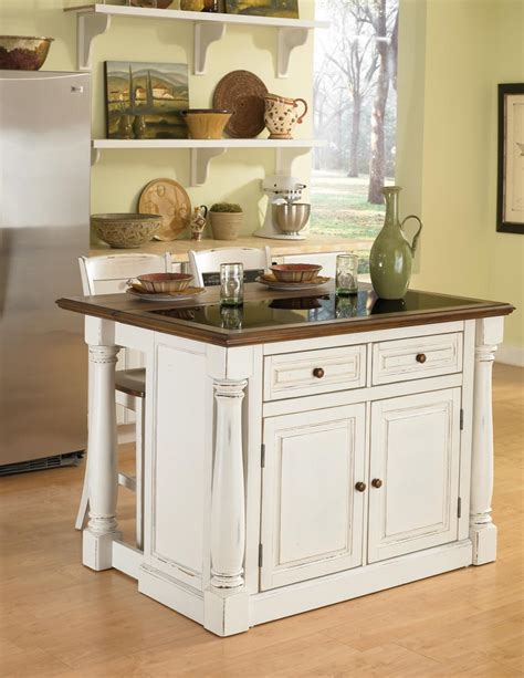 islands for kitchen home styles monarch granite top kitchen island with two stools 5021 948