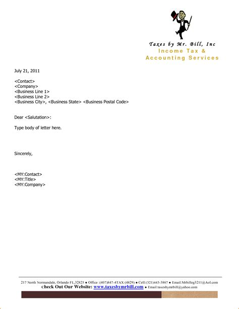 Business Letter Format No Letterhead formal business letter format with letterheadmemo company