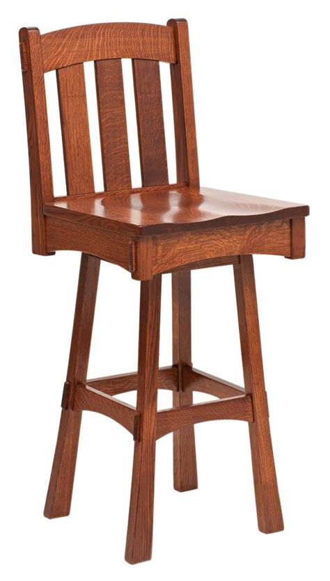 mission bar stools swivel modesto mission swivel bar stool from dutchcrafters amish