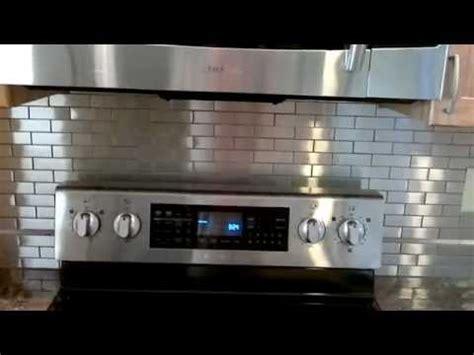 how to install a stainless steel backsplash stainless steel tile back splash