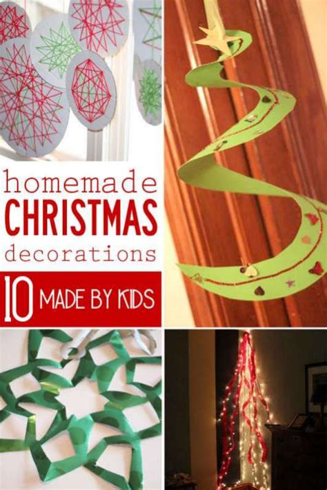 home made christmas decorations for kids 10 homemade christmas decorations for kids to make