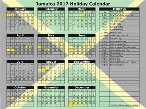 Jamaica Calend 2018 Jamaica 2017 2018 Calendar