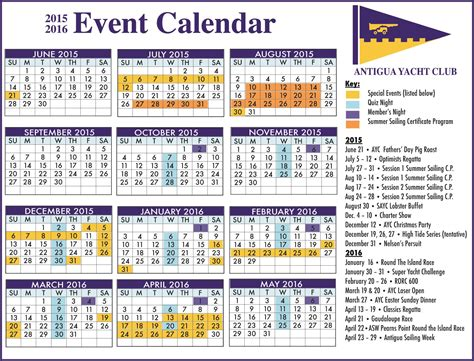 Calendar Events 2015 Antigua News Ayc Event Calendar For 2015 16