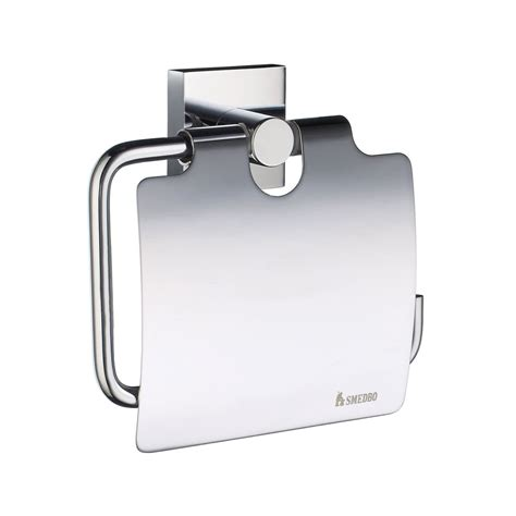 House Toilet Roll Holder Lid Rs3414 Brushed Chrome Smedbo Bathroom Accessories