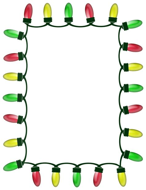 christmas lights border clip art clipart best