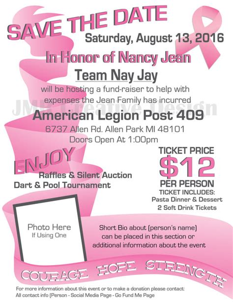 Breast Cancer Fundraiser Flyer Templates Free