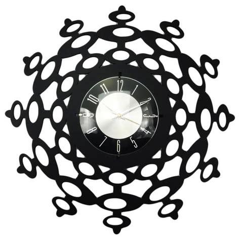 Decorative Wall Clock Mid Century Modern Studio Decorative Wall Clock Black