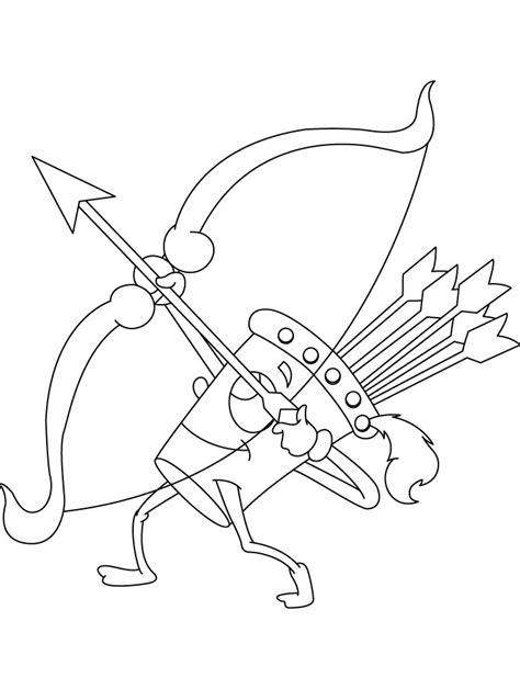 Wow Quiver Shooting Coloring Page Coloring Sheets Shooting Coloring Pages