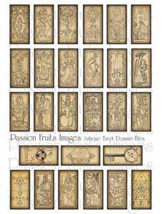 beautiful antique tarot cards digital download collage