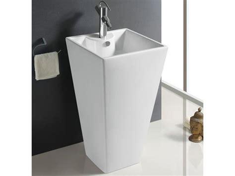 vasque sur pied rectangulaire sifnos c 233 ramique blanc