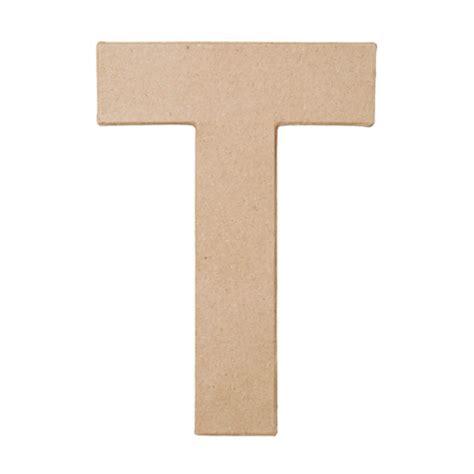 Paper Mache Craft Letters - paper mache letter quot t quot paper mache basic craft