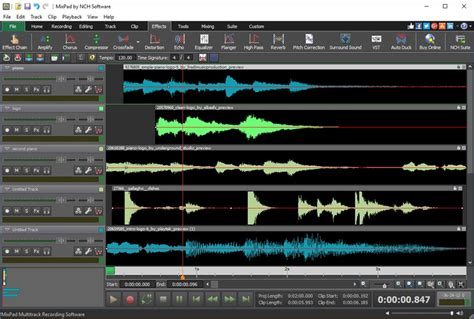 audio desk recording software mixpad multi track audio mixing software screenshots