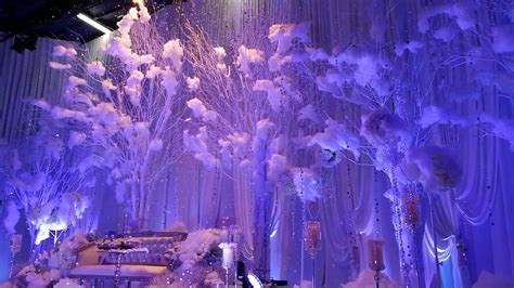 frozen wedding theme the reception of zalikha muhaimin
