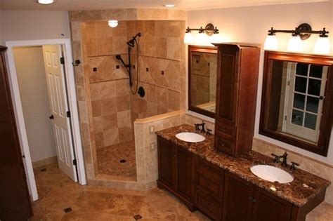 Noce And Cafe Light Travertine Bathroom Remodel How To Design A Bathroom Remodel