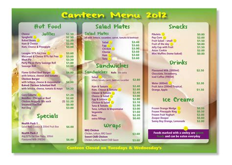 canteen menu template 38 playful school menu designs for a school
