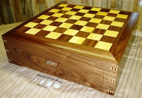 Handmade Chess Board - handmade chess board humidor by waxing moon wood