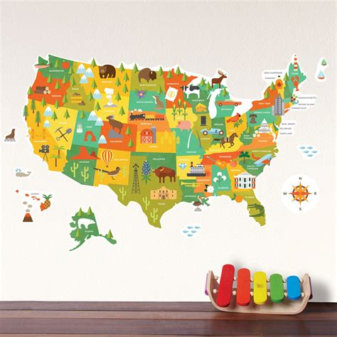 map wall decal united states map wall decal walldecals