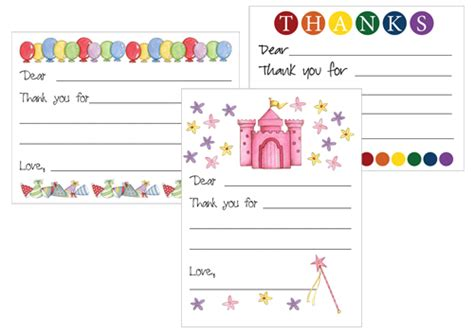 card templates for children printable thank you card templates new