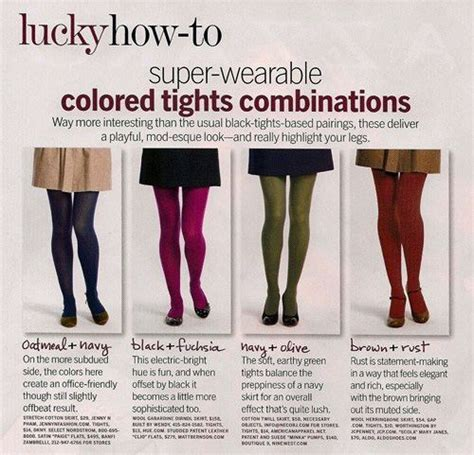 7 Tips For Wearing Brightly Colored Tights by 15 Style Tips On How To Wear Colored Tights Colored