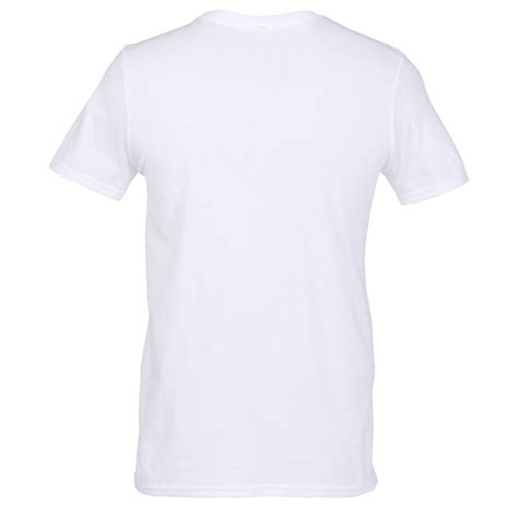Kaos 7 Second Tshirt Gildan Softstyle 4imprint gildan softstyle v neck t shirt s white 103476 m vn w imprinted with your