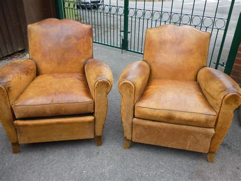 tan leather armchair pair of 19th century french tan leather armchairs 236087
