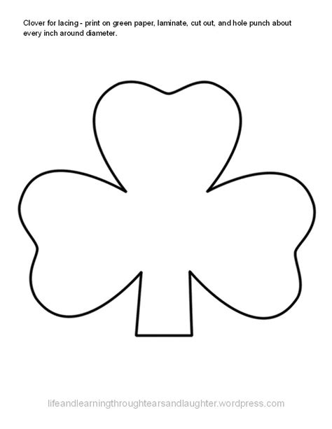 trinity shamrock coloring page coloring pages