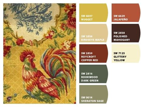 country design pallette of colors from chip it by sherwin williams custom