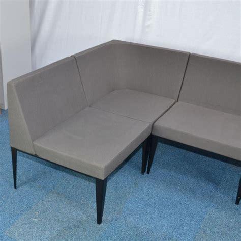 reception benches grey modular reception seating