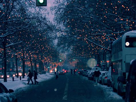 christmas lights in berlin nice picture of a road with a