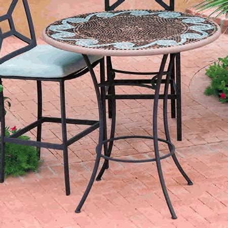 36 High Dining Table Knf Garden Designs Mosaic High Dining Table 36 Quot Ct36