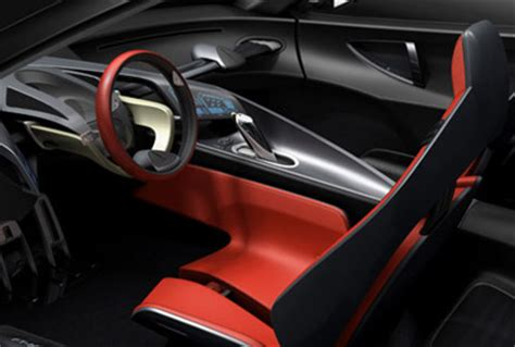 interior car design toyota ft hs concept cars diseno