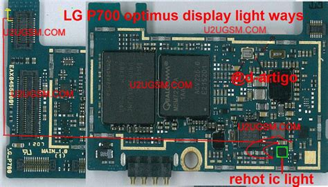 Led Blinking Moto G by Lg Optimus L7 P700 Lcd Display Light Ic Solution Jumper