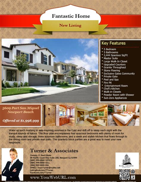 real estate flyer template real estate flyers pdf templates turnkey flyers