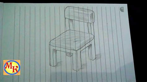 tutorial gambar 3d art cara menggambar kursi speed drawing youtube