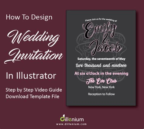 how to design a wedding invitation in adobe illustrator
