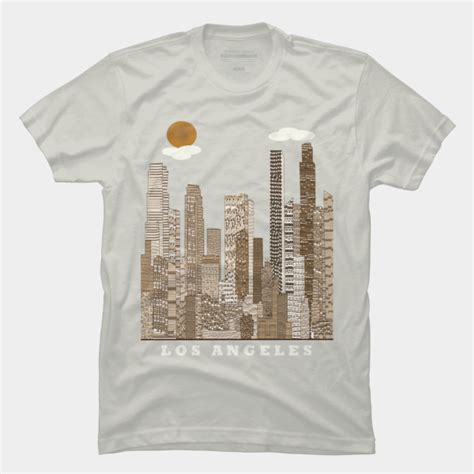 design t shirts los angeles los angeles skyline t shirt by bribuckley design by humans