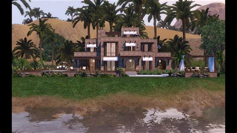 sims  traditionally modern egyptian mansion p  version youtube
