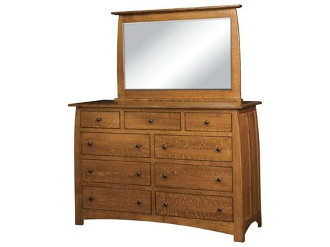 shaker style dresser with mirror amish superior shaker nine drawer dresser with mirror