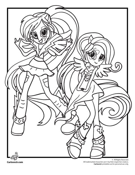 My Little Pony Coloring Pages Rainbow Dash Equestria Girls Equestria Rainbow Rocks Coloring Pages Free